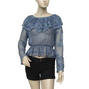 Kimchi Blue Urban Outfitters Embroidered Top XS